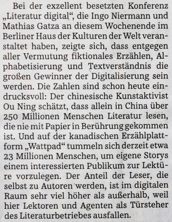 Süddeutsche Zeitung vom 24. März 2014